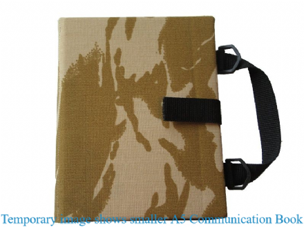 A4 Communication Book - Rigid Covers - Desert Camouflage